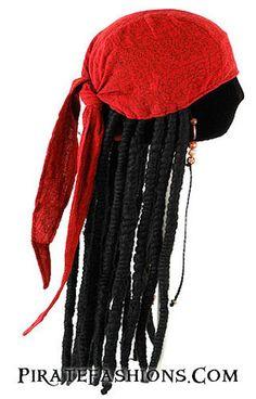 Jack Sparrow Bandana N Wig – Pirate Fashions