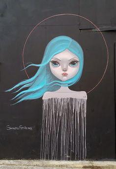 by #SimoniFontana  in #CamdenTown #London   #Mural #StreetArt #Graffiti #UrbanArt   #streetartproject