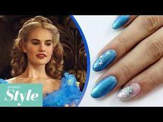 Cinderella inspired nails #bluenails #TUTORIAL #easymani #spring #nailart - bellashoot.com