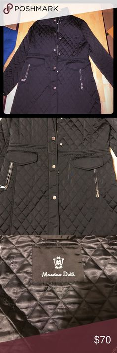 Massimo dutti XL quilted jacket So classy and stylish. Black quilted style. Very comfy and great for evening or daytime Massimo Dutti Jackets & Coats