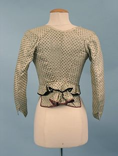 French Figured Silk Jacket Bodice, Late 18th C.
