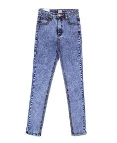 High Waist Elastic Pencil Jeans in Blue