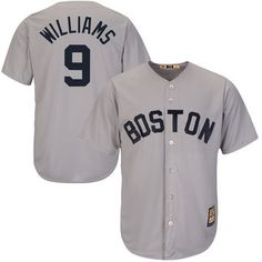 Men's Boston Red Sox Ted Williams Majestic Gray Cool Base Cooperstown Collection Player Jersey