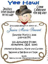 Carries Kiddie Closet Lil Cowboy Baby Shower Invitations