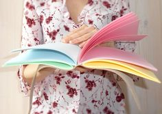 Beautiful handmade rainbow journal >>> made of genuine leather