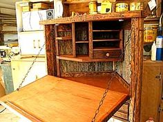 Rustic Barnwood Desks - Computer, Fold Down, and Seven Drawer Wood Desk - custom by Stephen Burlison