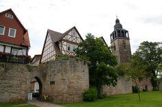 Bad Sooden-Allendorf - Stadtmauer, St. Crucis Kirche