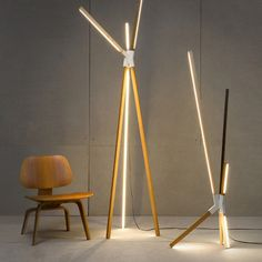 Stickbulb lights by RUX Design in New York. The structure becomes the light source, thanks to LEDs.