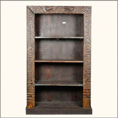 Rustic #ReclaimedWood Fusion Ornate Open 4 Shelf #BookCase #interiors #contemporaryfurniture #homedecor #furniture #homeinspiration   http://www.sierralivingconcepts.com/