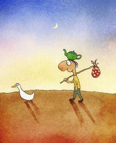 Direction finding duck, by Michael Leunig Tea Illustration, Illustrations, Modern Art Artists, Living Treasures, Cool Album Covers, The Sydney Morning Herald, Australian Artists, Archetypes, Cartoon Drawings