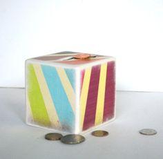 Sunburst Piggy Bank by Mmim on Etsy, $13.00