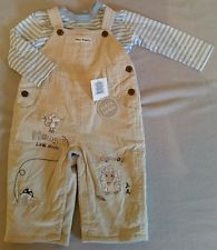 *BNWT* 6-9 mths baby boy Hungry Hedgehog dungaree set with long sleeve top