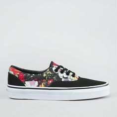 Kengät - Era Floral Black/True White Vans Era, Pumped Up Kicks, Vans Authentic, Pumps, Sneakers, Floral, Shoes, Black, Clothes