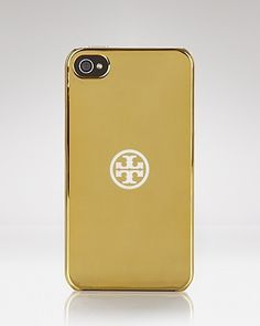 Tory Burch iPhone 4 Case - Gold Hardshell   Bloomingdale's