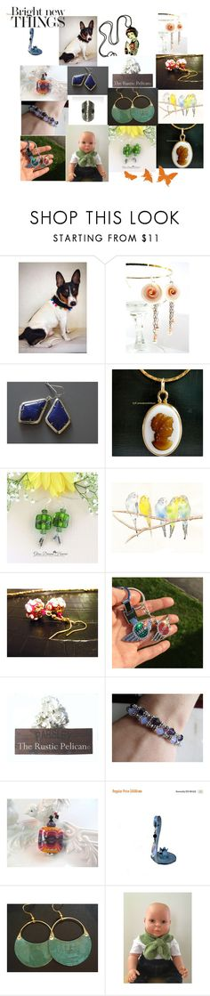 """""""Bright New Things"""" by anna-recycle ❤ liked on Polyvore featuring Lazuli, Cadeau, modern, rustic and vintage"""