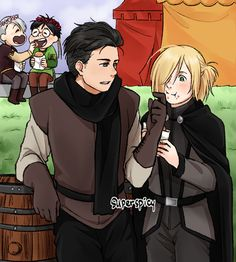 I'm not surprised if it's viktuuri but Katy also pay attention to otayuri and she definitely KNOWS what is going on ( ͡° ͜ʖ ͡°) after the madness I'm sure pfft.  I've seen like 4 or more otayuri Steven Universe AU but no viktuuri at all.. why?