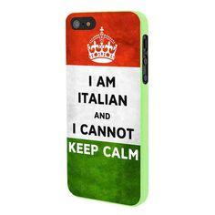 Italian Flag Keep Calm iPhone 5 Case Framed Green ❤ liked on Polyvore featuring accessories and tech accessories
