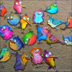 What Becky Did Last Night: Bird Crazy Stamps & Art Journal: On the Fence