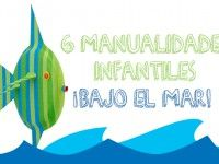 6 manualidades infantiles ¡bajo el mar! Paper Plate Crafts, Paper Plates, Craft Activities For Kids, Crafts For Kids, Sea And Ocean, Under The Sea, Outdoor Decor, Handmade, Recycled Art Projects