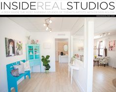 Today we take a peek inside the inspiring space of Ashley Steeby Photography. In what kind of space is your studio located? Commercial Square Footage: 600 How long have you been there? 4 months Wha...