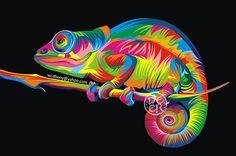 DIY Diamond Painting Cross Stitch Rainbow Chameleon Resin Needlework Home Decor Full Rhinestone Mosaic Diamond Embroidery Icon Art Pop, Wall Canvas, Canvas Art, Wall Art, Wall Decor, Tableau Pop Art, Colorful Animals, Colorful Animal Paintings, 5d Diamond Painting