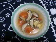 干ししいたけとトマトの和風スープ