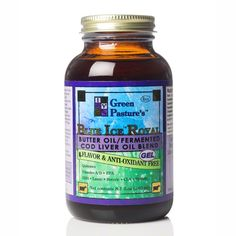 http://livesuperfoods.com/green-pasture-blue-ice-royal-gel.html Green Pasture's Blue Ice Royal is a combination of 1 part X-Factor High Vitamin Oil to 2 parts Fermented Cod Liver Oil. Available in Non-Flavored Gel, Cinnamon Gel or Chocolate Cream Gel. The Non-flavored Gel version has no flavoring or added antioxidants, and is our most popular flavor!