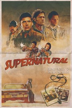 Old West Feeling Supernatural Poster Fantasy TV Vintage Retro Decorative DIY Wall Stickers Art Home Bar Posters Decor Gift