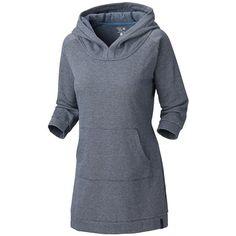 Mountain Hardwear Lampira Tunic Dress - Hooded, 3/4 Sleeve (For Women) in Abyss