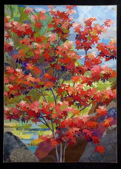 Japanese Maple by Sue Benner, 2012 workshop seen at Quilting Adventures.  Round Top Retreat (Texas)