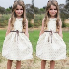 Infant Baby Girls Summer Sans manches robe patineuse Princess Party Floral Robes