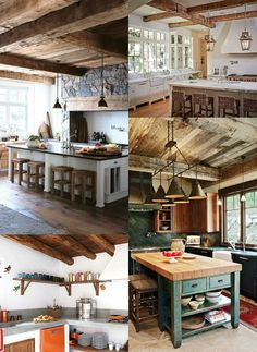 ideas_cocinas_rusticas Ideas, Wood, Kitchen, House, Mountain, Design, Home Decor, Modern Rustic Kitchens, Country Style Kitchens