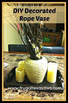 #DIY Rope Vase