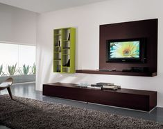 living room tv wall ideas | Modern living room with lcd tv - Living Room - Home Design and ...