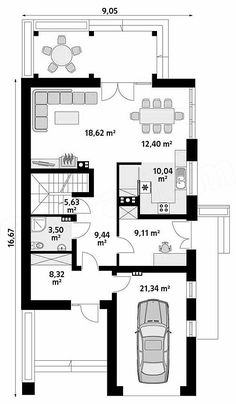 Projekt domu Amarylis 4 157,06 m2 - koszt budowy - EXTRADOM Floor Plans, Women's Fashion, Fashion Women, Woman Fashion, Floor Plan Drawing, Womens Fashion, House Floor Plans, Women's Clothing Fashion
