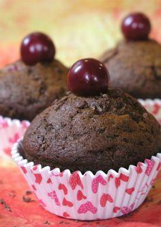 Meggyes csokis muffin - Süss Velem Receptek