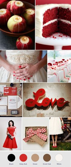 Love the dress, apples, red velvet cake, and red nails!