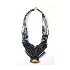 Blue Murano necklace nr. 309 by Ifat Nesher