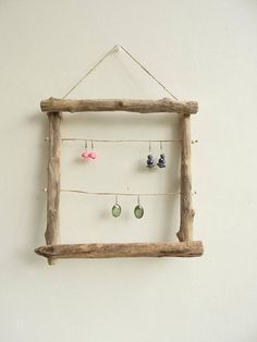 Door wooden crate-jewelry – storage bathroom storage – jewelry display earrings – mother's day Driftwood jewelry display stand Jewelry storage Jewellery Storage, Jewellery Display, Jewelry Booth, Wood Crafts, Diy And Crafts, Decoration Palette, Shop Signage, Driftwood Jewelry, Jewelry Display Stands