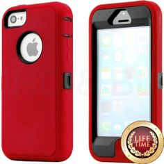 Amazon.com: myLife (TM) Dark Red + Black 3 Layer (Hybrid Flex Gel) Grip Case for New Apple iPhone 5C Touch Phone (External Full Body Defende...