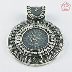 Rava Oxidised Design 925 Sterling Silver Pendant P4770 #SilvexImagesIndiaPvtLtd #Pendant