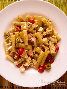 Salada de Macarrão, para ver a receita, clique na imagem para ir ao Manga com Pimenta.