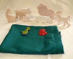 Wooden Animal Play Set  Safari Set by KreativeMindz on Etsy, $25.00