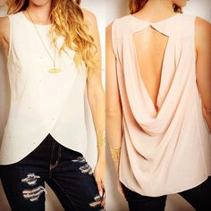 Textured chiffon top Available in Ivory and blush. Comment with your size and color when you're ready to purchase! OUT OF PINK! Tops
