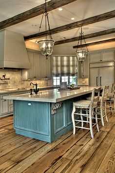 Rustic Gourmet Kitchen