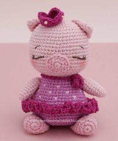 Crochet Bunny, Crochet Animals, Crochet Yarn, Crochet Toys, Free Crochet, Amigurumi Tutorial, Doll Toys, Free Pattern, Crochet Patterns