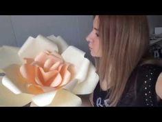▶ Цветы из бумаги! Мастер-класс (для свадьбы и др.) - YouTube