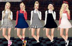Turtleneck Suspender Dress by JS Sims 3 - Sims 3 Downloads CC Caboodle