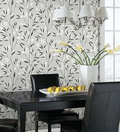 Black and White Bamboo Wallpaper