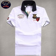 77f5fffbdd90 cheap ralph lauren polo shirts Paul  amp  Shark Men s Sleeve UK Flag Polo  Shirt White